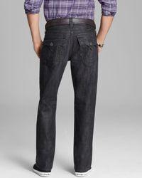 True Religion Jeans - Ricky Python Straight Fit In Black Rattlesnake for men