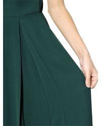 Valentino - Green Short Sleeved Silk Jumpsuit - Lyst