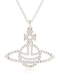 Vivienne Westwood | White Griselda Brass Relief Pendant Necklace | Lyst