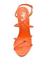 Alice + Olivia Orange Alice Olivia Gianna Strappy Sandals