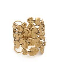 Aurelie Bidermann | Metallic Nympheas Leaves Cuff | Lyst