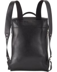 Balenciaga Black Boxy Leather Backpack for men