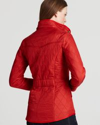 Barbour Red Cavalry Polarquilt Jacket