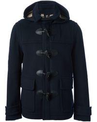 Burberry Brit - Blue Duffle Coat for Men - Lyst