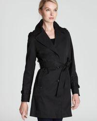 DKNY Black Melissa Trench Coat with Belt