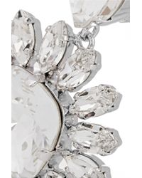 Dolce & Gabbana - Metallic Natale Palladiumplated Swarovski Crystal Clip Earrings - Lyst