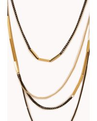 Forever 21 | Metallic Modernist Layered Necklace | Lyst