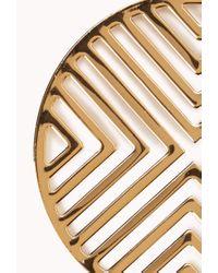 Forever 21 - Metallic Mod Chevron Earrings - Lyst