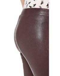 J Brand Purple Leather Leggings