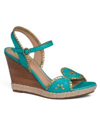 Jack Rogers Blue Clare Wedge