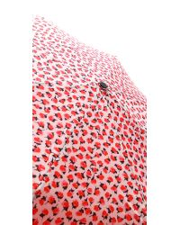 kate spade new york Pink Rose Travel Umbrella
