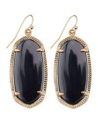 Kendra Scott - Black Goldplated Elle Earrings Gray - Lyst