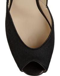Kors by Michael Kors Black Vail Calf Hair Peep-toe Pumps