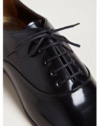 Lanvin Black Womens Pointed Richelieu Shoes
