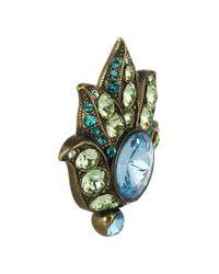 Lanvin - Blue Udaipur Goldtone Swarovski Crystal Clip Earrings - Lyst