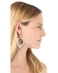 Lizzie Fortunato White First Hot Summer Night Earrings