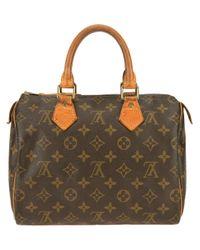 Louis Vuitton Brown Speedy 25 Handbag