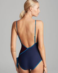 Marc By Marc Jacobs - Blue Le Shine Deep V Maillot One Piece Swimsuit - Lyst