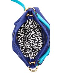 Marc By Marc Jacobs Blue Classic Q Colorblock Hillier Hobo - Bright Royal Mult