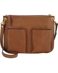 Marni Brown Bandoleer Bag