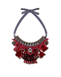 Matthew Williamson | Red Opulent Beaded Necklace | Lyst