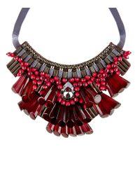 Matthew Williamson - Red Opulent Beaded Necklace - Lyst