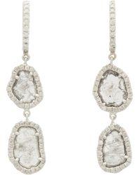 Monique Pean Atelier   Diamond White Gold Twotier Drop Earrings   Lyst