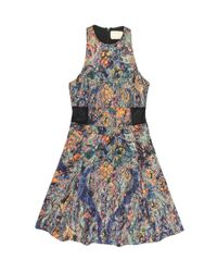 Nicole Miller Blue Carson Tapestry Dress