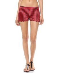 Pret-a-surf Red Boy Shorts with Front Closure