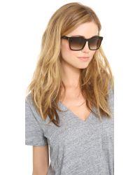 Saint Laurent Square Sunglasses - Havana/Brown Gradient