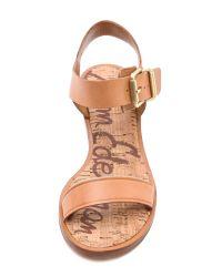 Sam Edelman Natural Trina Low Heel Sandals