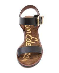 Sam Edelman Black Trina Low Heel Sandals