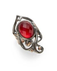 Stephen Webster | Red Raspberry Clear Quartz Doublet Twotone Ring | Lyst