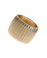 TOPSHOP - Metallic Gold Textured Clamp Bracelet - Lyst
