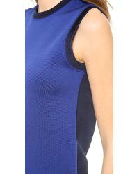 Victoria Beckham Blue Sleeveless Knit Top