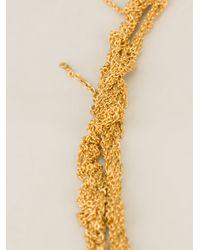 Arielle De Pinto - Metallic Crochet Chain Necklace - Lyst