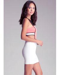 Bebe Red Sporty Mesh Side Cutout Dress