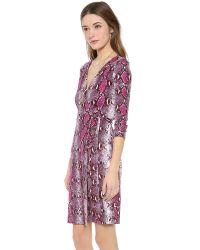 Diane von Furstenberg Pink Julian Two Wrap Dress