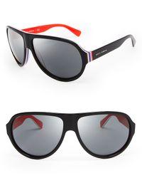 Dolce & Gabbana Layered Aviator Sunglasses for men