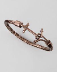 Eddie Borgo - Brown Anchor Cable Bracelet Chocolate - Lyst