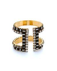 Erickson Beamon - Metallic Gold-Plated Swarovski Crystal Cuff - Lyst