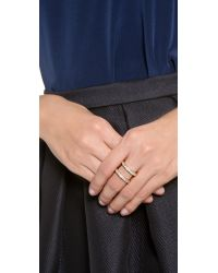 Gorjana - Metallic Lena Shimmer Double Bar Ring - Lyst