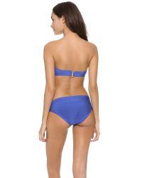 Hervé Léger Blue Loretta Bandeau Bikini Set