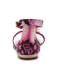 Ivy Kirzhner Purple Babel Embellished Sandals