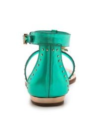 Ivy Kirzhner Green Babel Embellished Sandals