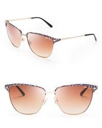 Jimmy Choo Metallic Laura Wayfarer Sunglasses