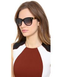 Jimmy Choo Ally Sunglasses - Shiny Black/Grey Mirror