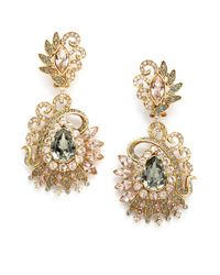 Judith Leiber - Metallic Lulu Crystal Cluster Earrings - Lyst