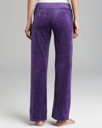 Juicy Couture Purple Pants Velour Bling Original Leg