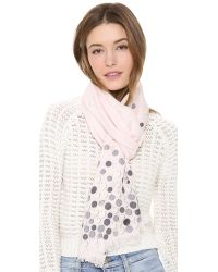 kate spade new york Pink All That Glitters Paillettes Scarf